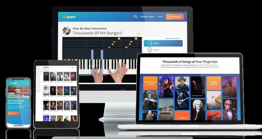 Image of website on various screens